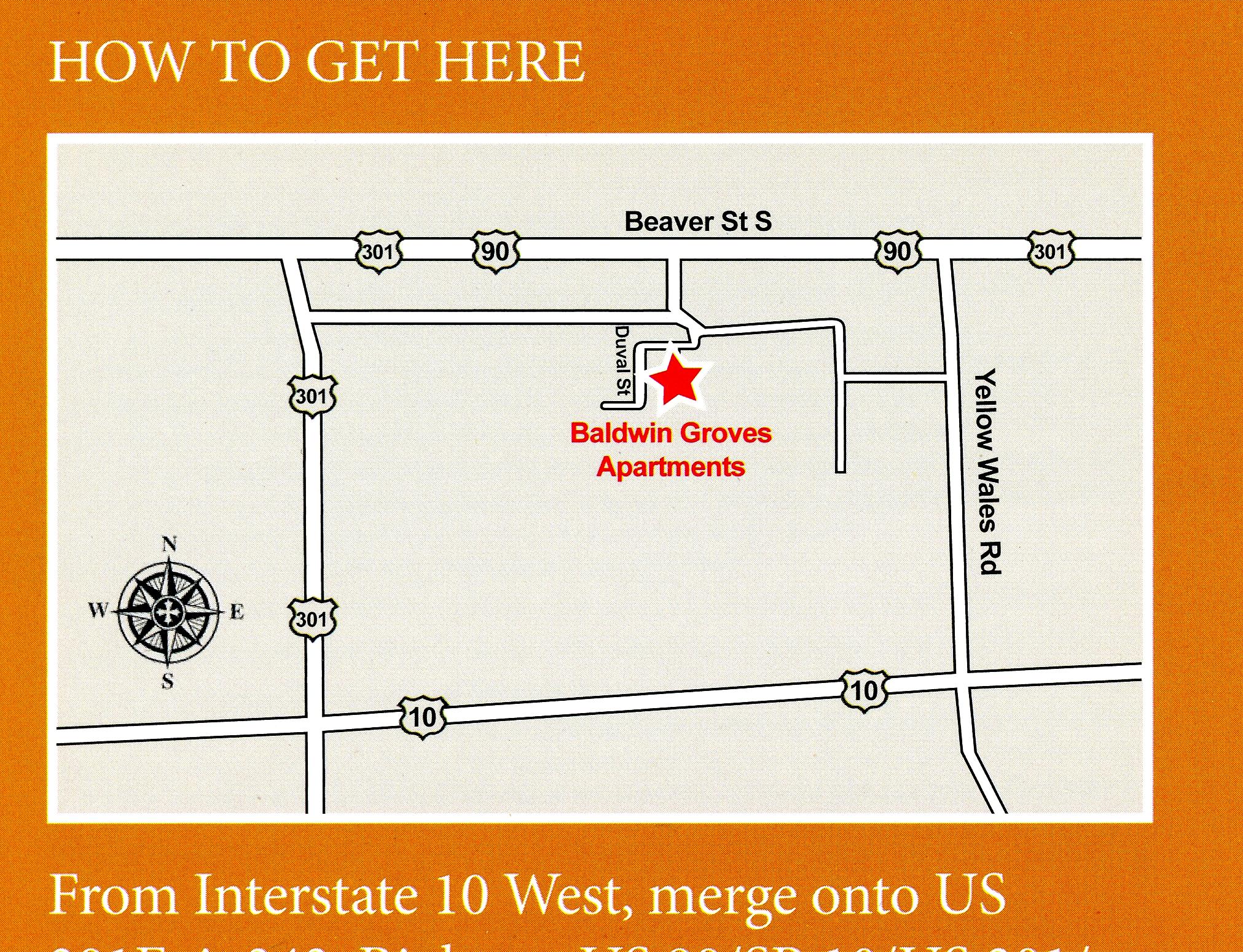 Baldwin Groves Map
